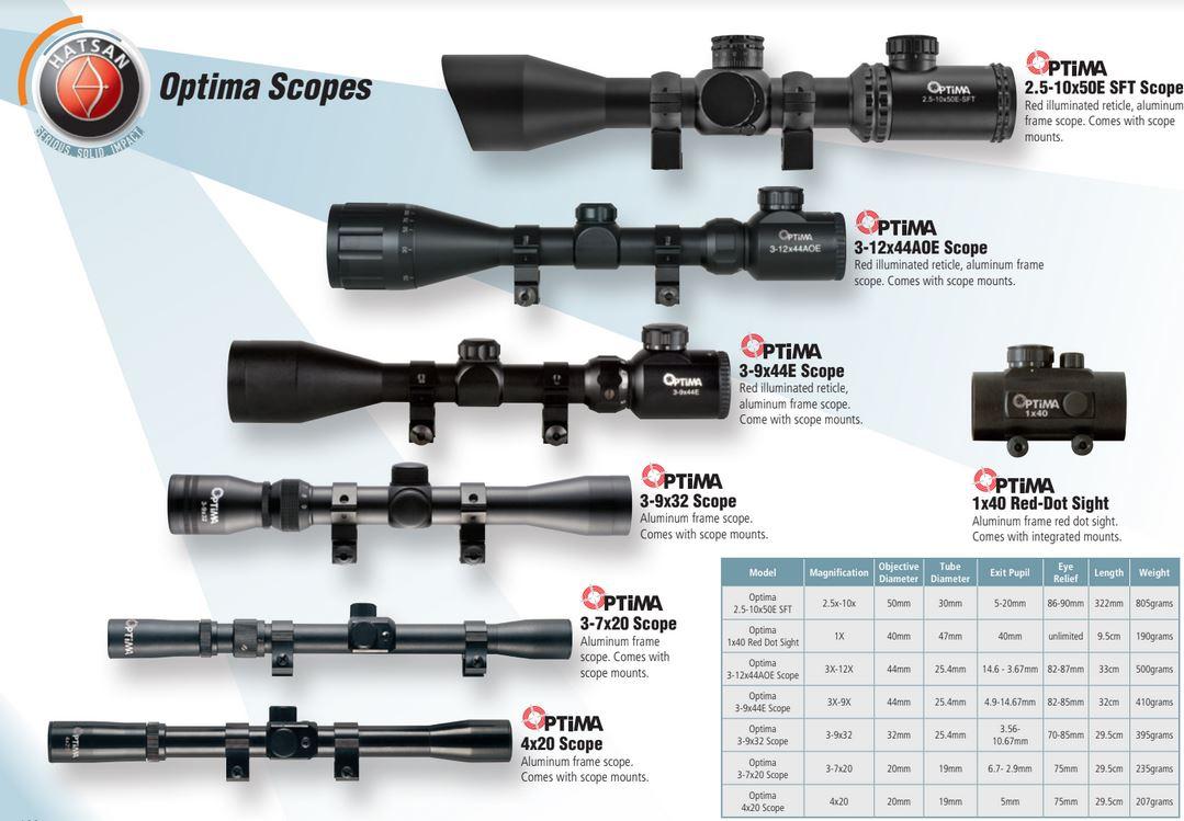 Hatsan Optima 2.5-10x50E-SFT Rifle Scope