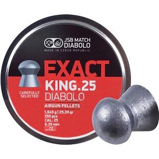 "JSB Match Diabolo Exact King, Domed, Grains 25.39, Qty 350, Caliber .25"""