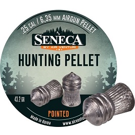 Seneca Pointed Pellets, Weight 43 2 Grains, Qty 83, Caliber  25